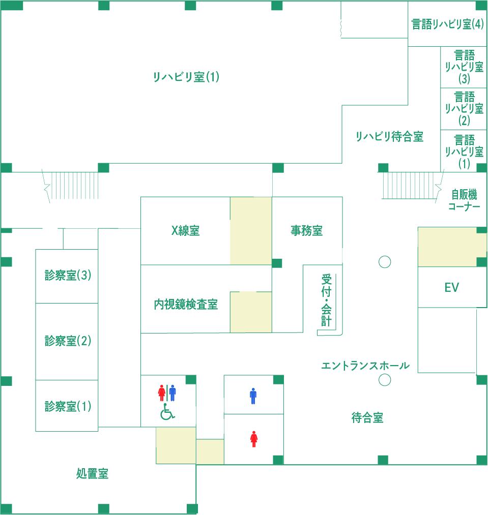 1階の簡略図